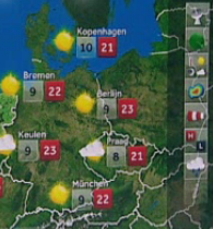 Interactive weather map… on TV